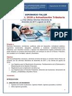1.- Contenido Del Taller Cierre Fiscal 2018