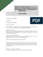 12 Ds 019 2003 Pcm Reglamento de Ley Demarcacion y Organizacion Territorial