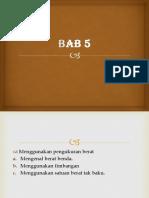 PPT MTK Kelas 1 Bab 5
