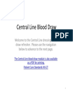 Central Line Blood Draw