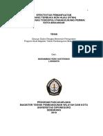 Efektivitas Pemanfaatan Rth Non Hijau Mohammad_rizki_soetrisno