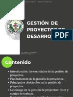 Gestión de Proyectos de Desarrollo