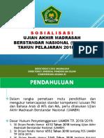 Sosialisasi UAMBN 2018-2019