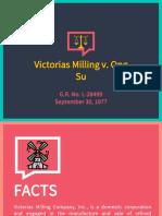 Trademarks - Victorias Milling vs. Ong Su - Dela Cerna Final
