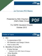 Reverse Osmosis Basics 10-10-2012