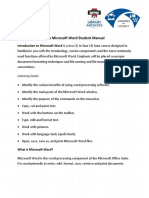 4-0-1 Introduction to Microsoft Word Student Manual