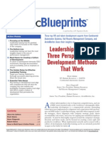 Leadership Training- Three Perspectives on Development Methods That Work Skill Soft)