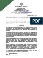 MB - COMUNICADO 27-XI - ORÇAMENTO DE ESTADO E O ALGARVE - REACÇÃO DE MENDES BOTA