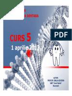 Genetica MD - Curs 5 1 Aprilie 2013