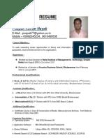 Updated CV of Puspak Nayak
