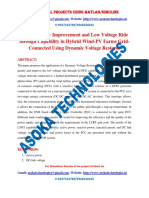 Power Quality Improvement and Low Voltage Ride through Capability in Hybrid Wind-PV Farms Grid-Connected Using Dynamic Voltage Restorer