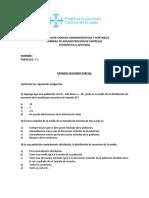 Examen II Parcial. Estadística II