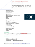 International Journal of Biomedical Engineering and Science IJBES