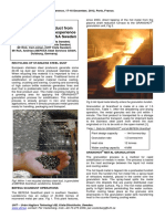 2012 Granulated Metal Product From Direct Tapped Furnace