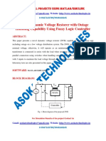 A Novel Dynamic Voltage Restorer with Outage Handling Capability Using Fuzzy Logic Controller
