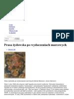 Prasa żydowska po wydarzeniach marcowych _ Forum Żydów Polskich