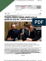 Primeiro Ministro Frances Admite