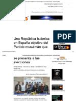 Una República Islámica en España Objetivo Del Partido Musulmán Que Se Presenta a Las Elecciones