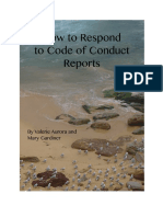 How to Respond to Code of Conduct Reports  by Valerie Aurora and Mary Gardiner