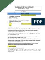 Cronograma Da Investidura Clube Atalaias Juvenis (Versão Gisleine)