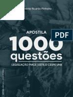 Tenente Ricardo Pinheiro 1000 Questões Legislação PMCE