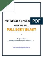 Metabolic Mayhem Medicine Ball Full Body Blast FINAL