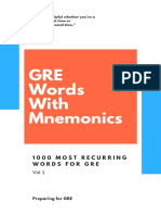 PFG GRE 1000 Words With Mnemonics