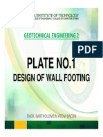 Specs Wall Footing