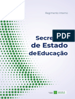 SEDF Regimento Interno da Secretaria de Estado de Educação do DF