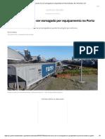 Eletricista Morre Ao Ser Esmagado Por Equipamento No Porto de Santos, SP _ Porto Mar _ G1