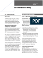 Differential pressure hazards in diving