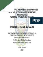 MPLEMENTACION DE CONTROL INTERNO EN LA COMERCIALIZACION DE MEDICAMENTOS