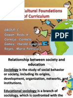 Socio-Cultural Foundation of Curriculum