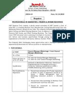 Recruitment Notification Oct18