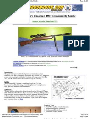 Crosman 1077disassembly | Trigger (Firearms) | Screw