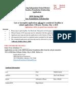2018 Spring ISD Education Foundation Scholarship