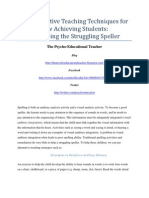 Alternative Teaching Techniques for Low Achieving Students
