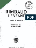 """Bachelard G. - Preface """"Rimbaud l'enfant"""" par C.A. Hackett"""