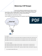 Mikrotik Load Balancing 2 ISP Dengan PCC