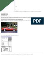 Wyatt Turner's Lamborghini Miura Tutorial Page 1
