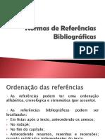 Normas de Referências Bibliográficas
