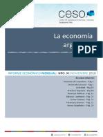Informe Economico Mensual Nro Xi - Noviembre 2018 - Prensa