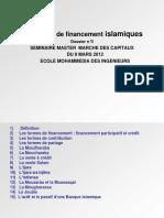 4) Les Modes de Financement Islamiques Corrigé