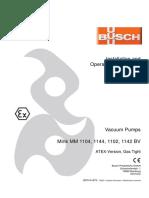 Busch Instruction Manual Mink MM 1104-1142 BV ATEX Gastight en 0870141675