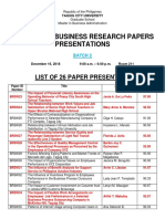 list of paper presenters tcu mba 2018 - batch 2