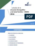 Datos  Endes 2016