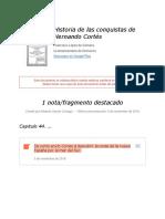 """Notas de """" Historia de Las Conquistas de Hernando Cortés """""""