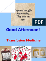 Transfusion Medicine Part I Students