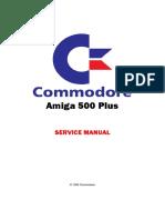 Commodore - Amiga 500 Plus - Service manual
