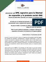 Boletín Prensa Sexenio de La Resistencia